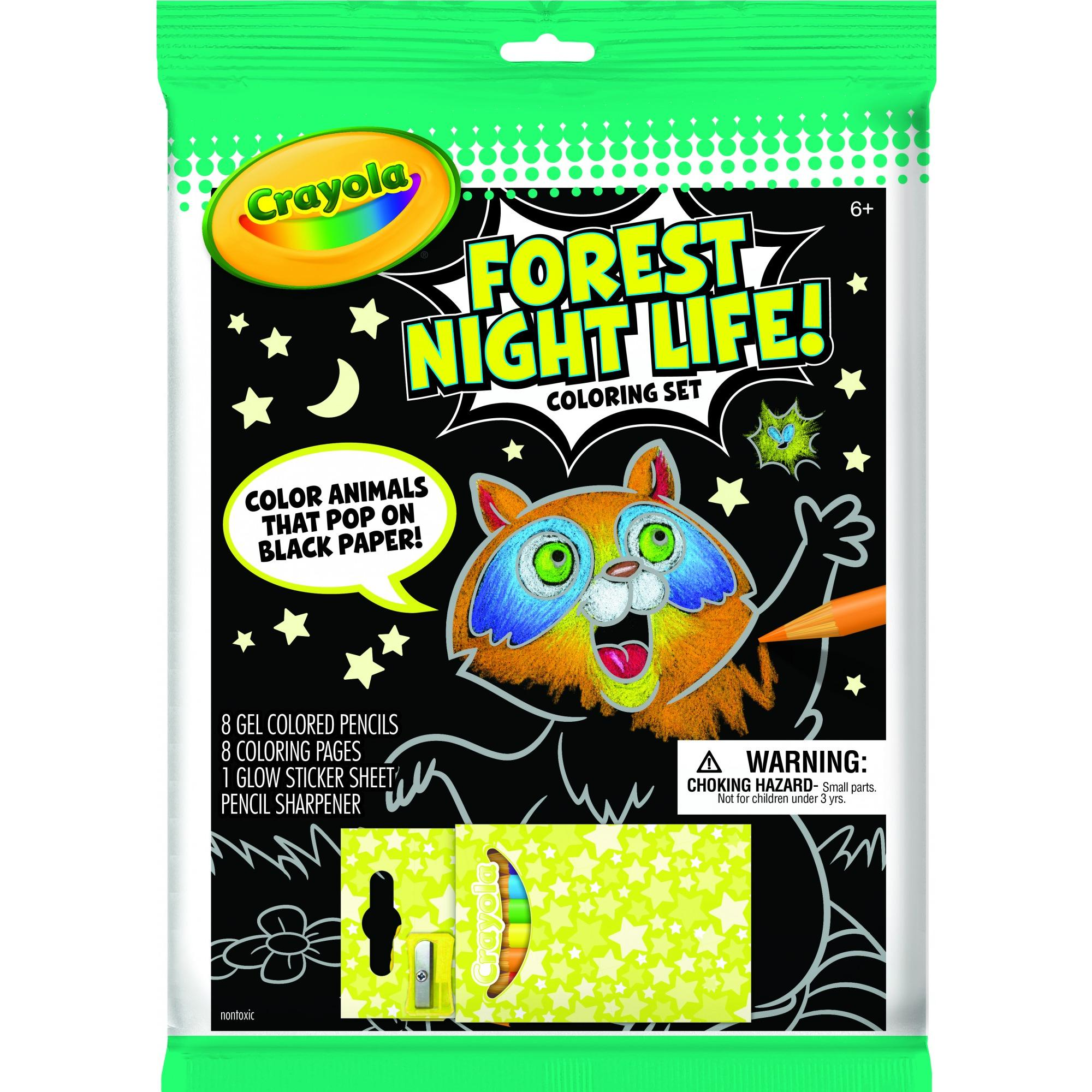 Crayola Forest Night Life Art Set, Coloring Kit For Kids, 16 Pieces