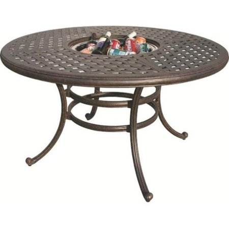 Darlee Series 30 52 Round Patio Dining Table In Antique Bronze