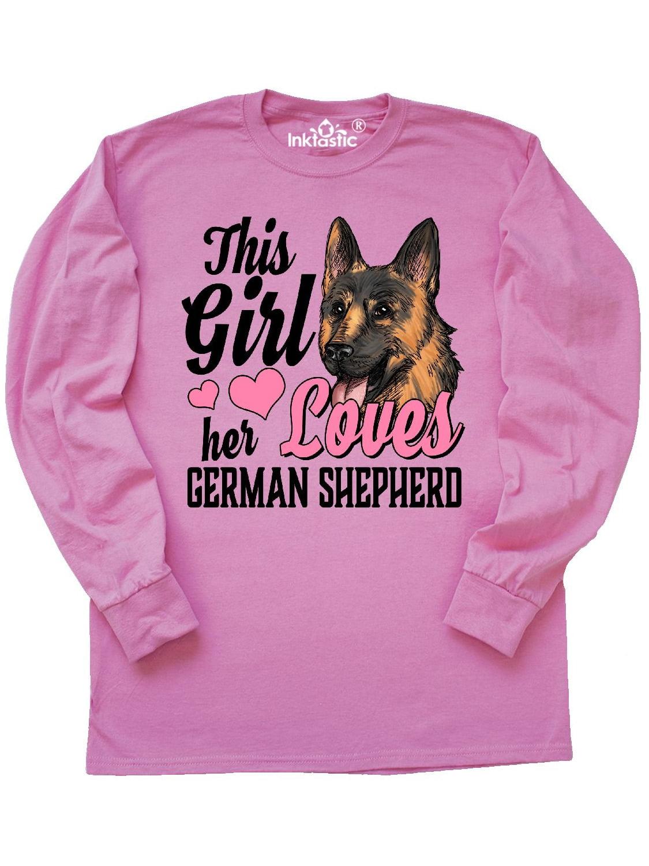 Inktastic This Girl Her German Shepherd Long Sleeve T-Shirt Pets Dog Doggy