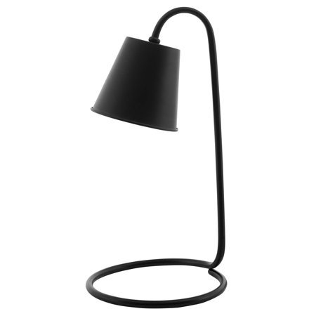 Industrial Country Cottage Farm Beach House Living Lounge Kitchen Room Table Desk Lamp Light, Metal Steel, Black