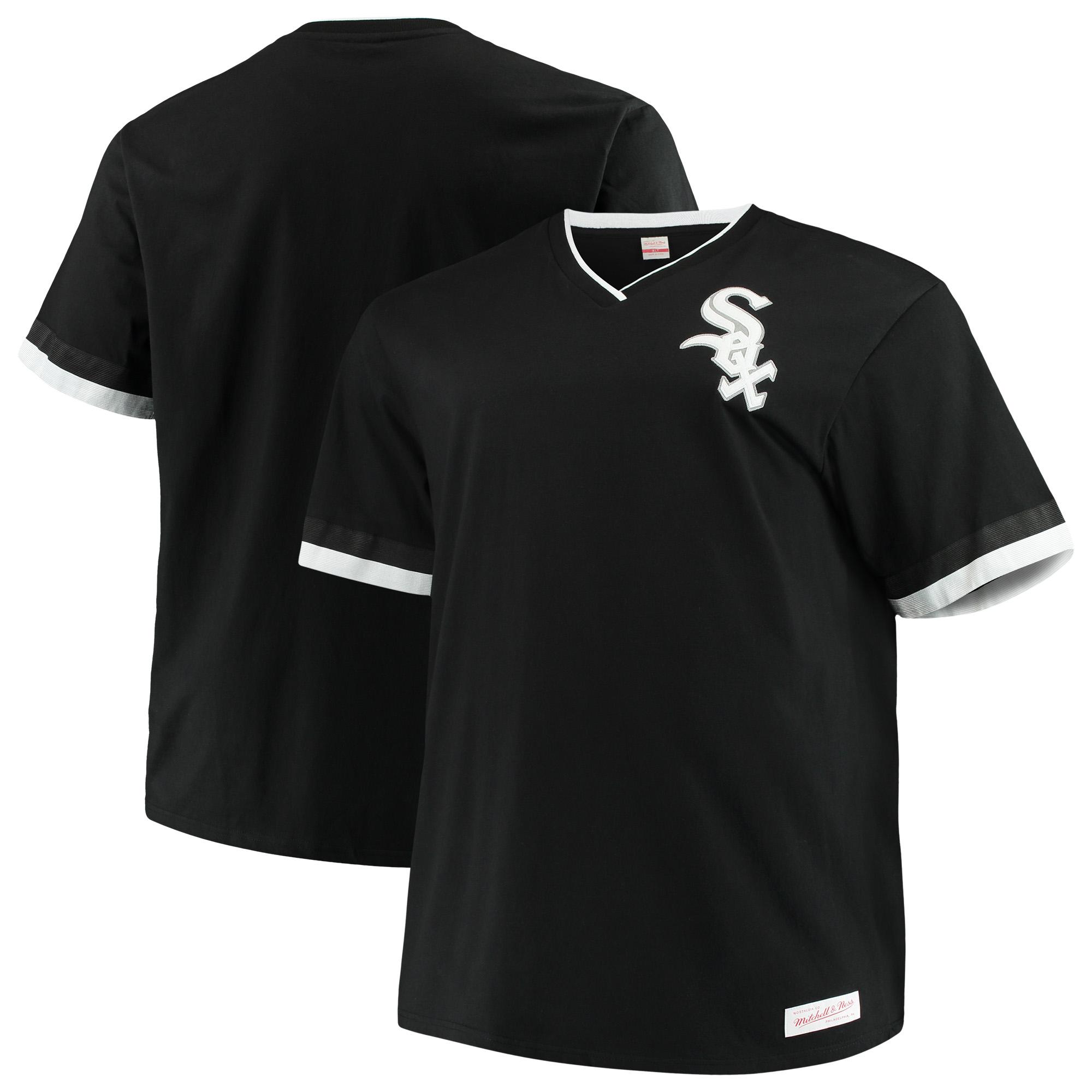 Chicago White Sox Mitchell & Ness Big & Tall Overtime Win V-Neck T-Shirt - Black