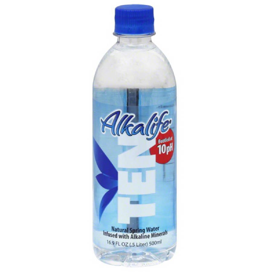 Alkalife Ten Alkaline Spring Water with Electrolytes, 16.9 fl oz, (Pack of 24) by