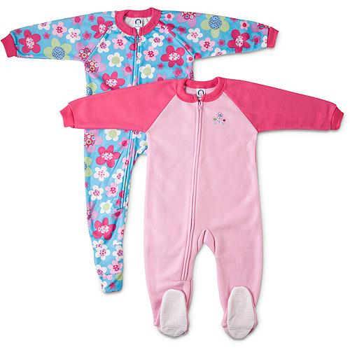 Gerber Baby Girls Blanket Sleepers 2 Pack Walmart Com