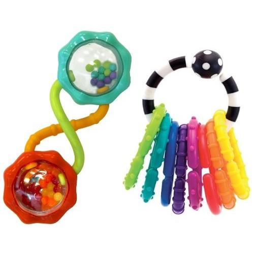 Rattle Development Toy and Shake Barbell Rattle Set