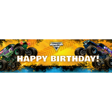 Customized Banner For Birthday (Monster Jam Birthday Banner)