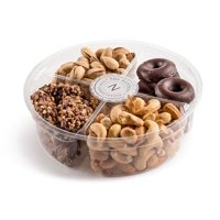 The Nuttery Deluxe 4 Section- Chocolate and Roasted Nuts Gift Tray