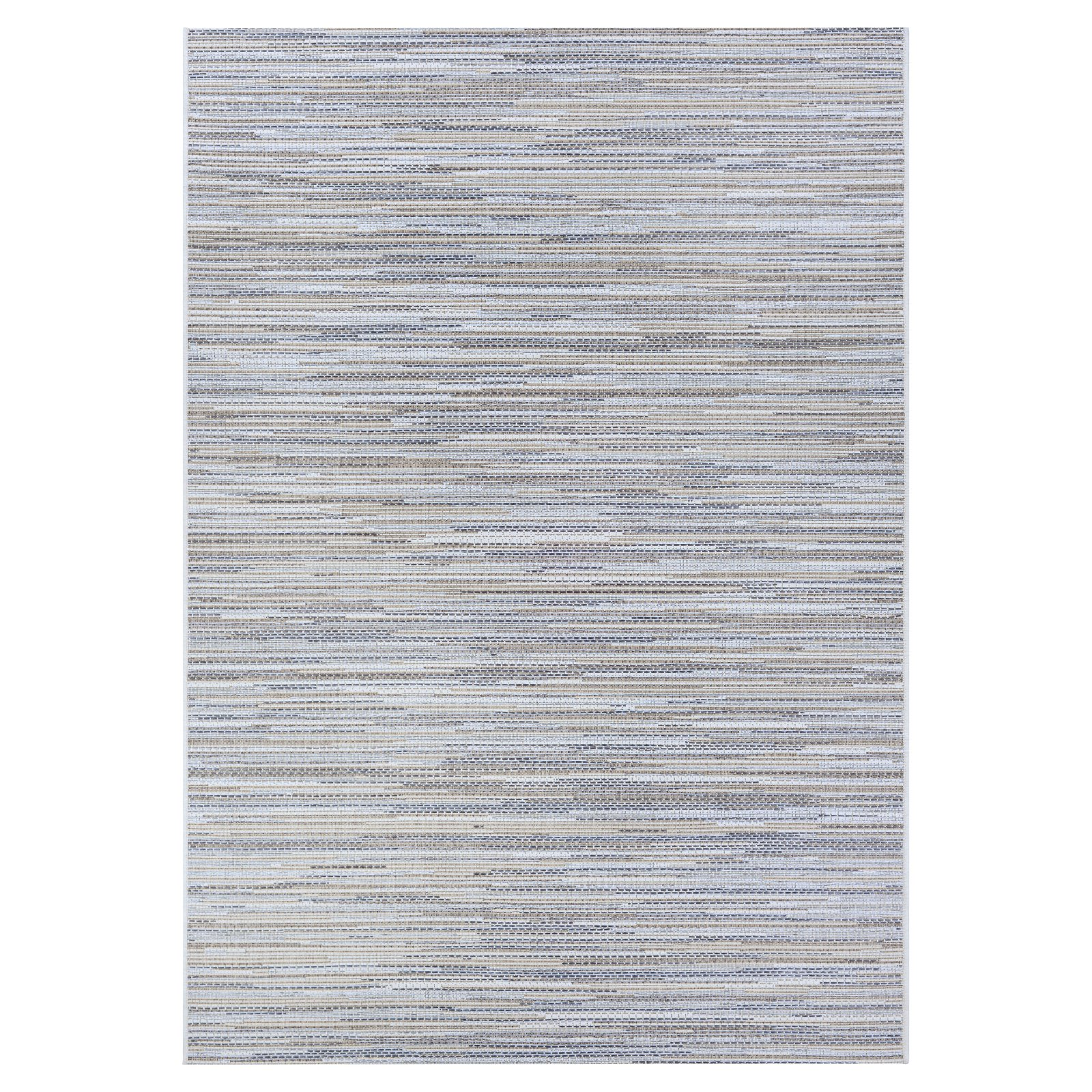 Couristan Monte Carlo Coastal Breeze Taupe-Champagne Indoor/Outdoor Area Rug