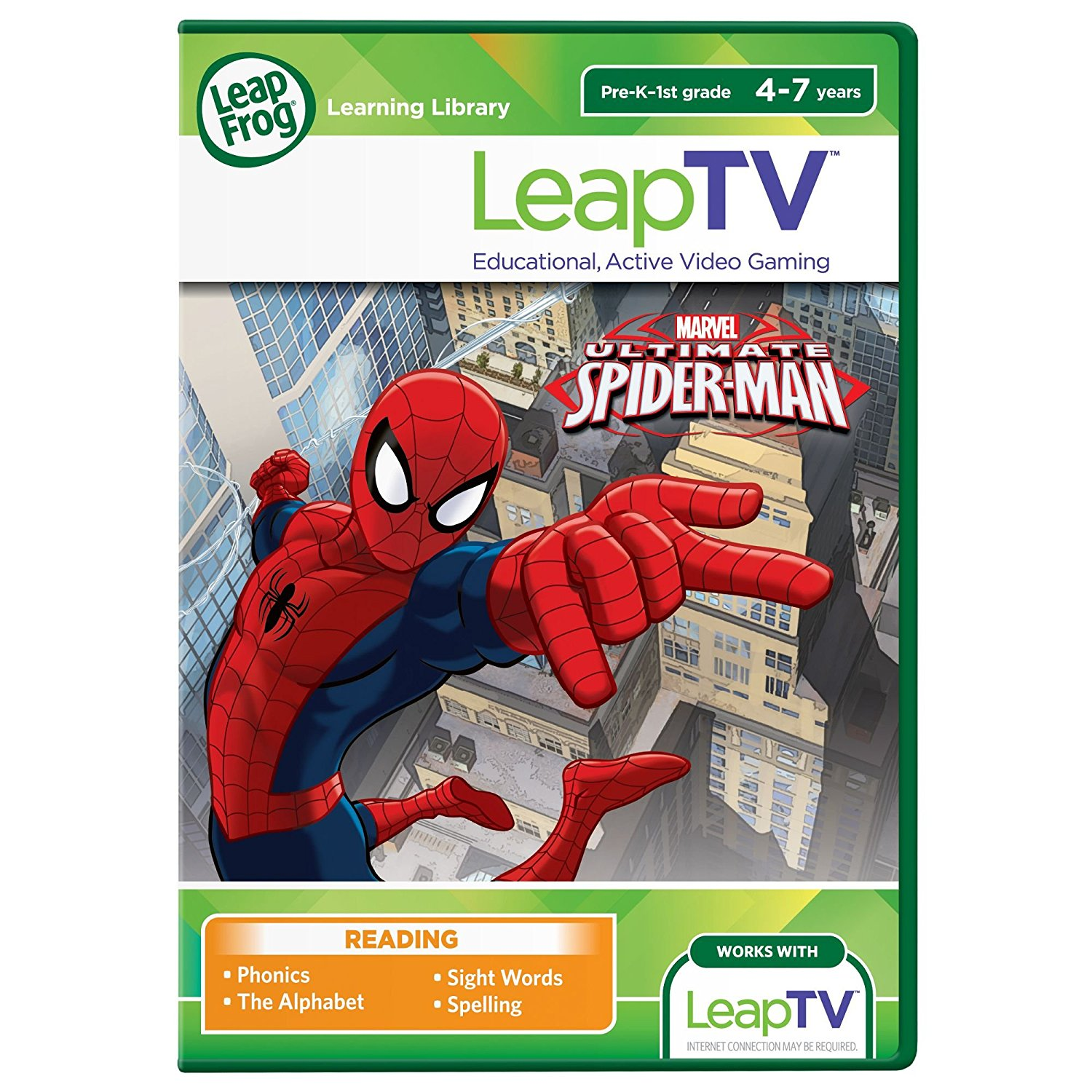 LeapTV Ultimate Spider-Man Educational, Active Video GameThe Educator Approved game is designed by LeapFrog... by