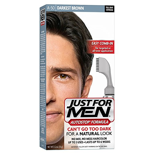 Just For Men AutoStop Hair Color - #50 Darkest Brown (Pack of 3)