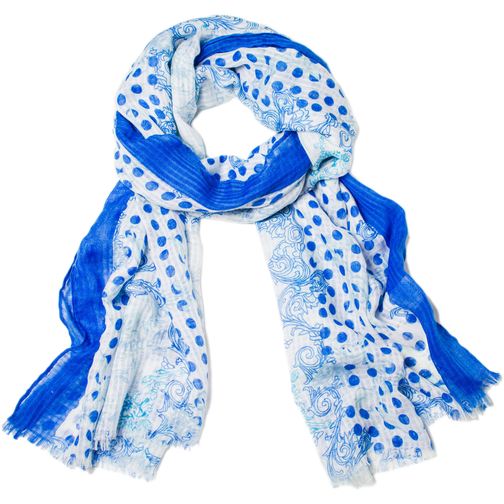 Women's Faded Glory Mixed Print Oblong Scarf