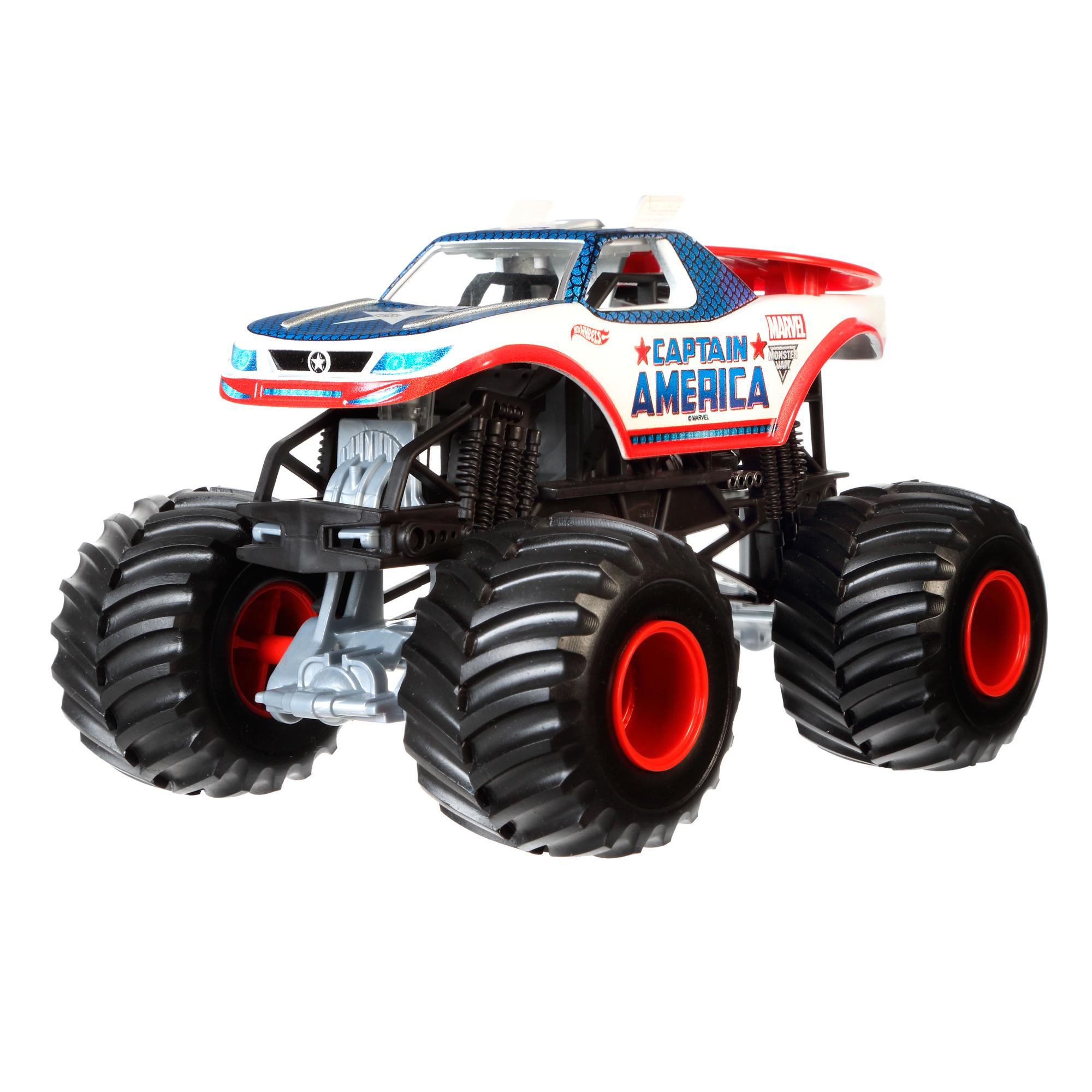 Hot Wheels Monster Jam 1:24 Captain America Die-Cast Vehicle