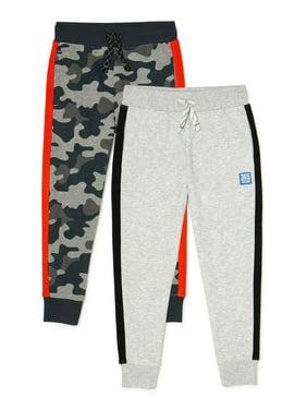 365 Kids From Garanimals Boys Jogger Sweatpants, 2-Pack, Sizes 4-10