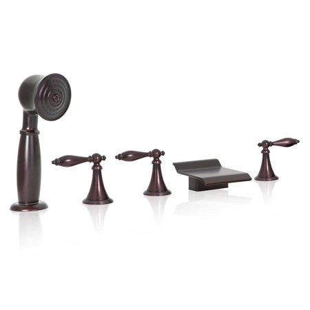 - FREUER Bellissimo Collection: Handshower Roman Tub Faucet, Oil Rubbed Bronze