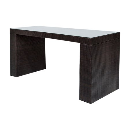 TK Classics Barbados Wicker Bar Height Patio Dining Table ()