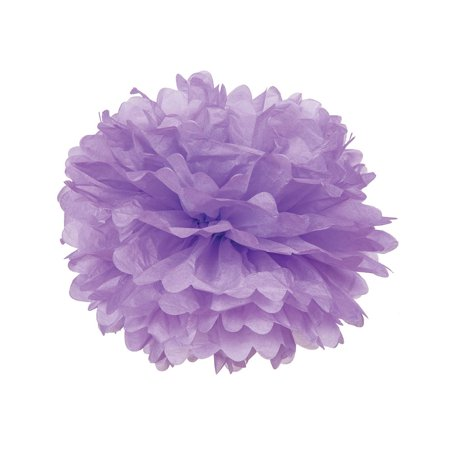 Tissue Paper Pom Pom (15-Inch, Lilac Purple) - For Baby Showers, Nurseries, and Parties - Hanging Paper Flower -