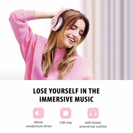 f535cee7518dc5 Mpow 059 Bluetooth Headphones Over Ear, Hi-Fi Stereo Wireless Headset,  Foldable, Soft Memory-Protein Earmuffs, w/Built-in Mic Wired Mode PC/Cell  Phones/TV ...