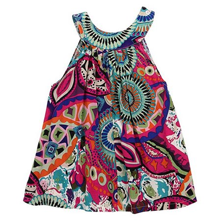 Toddler Kids Baby Girl Sleeveless Floral Loose Tank Top Vest Crew Neck T-Shirt Blouse Outfits (Tank Girl Tshirt)