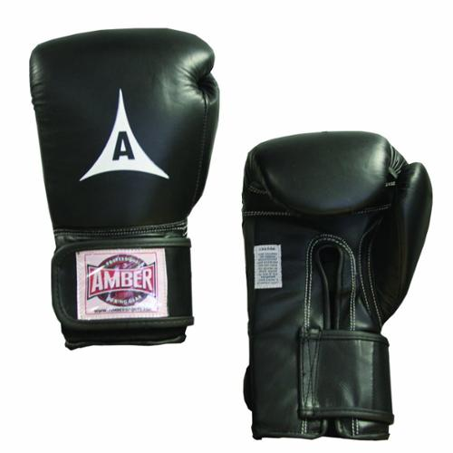 Professional Velcro Training Gloves in Black (10 oz.)