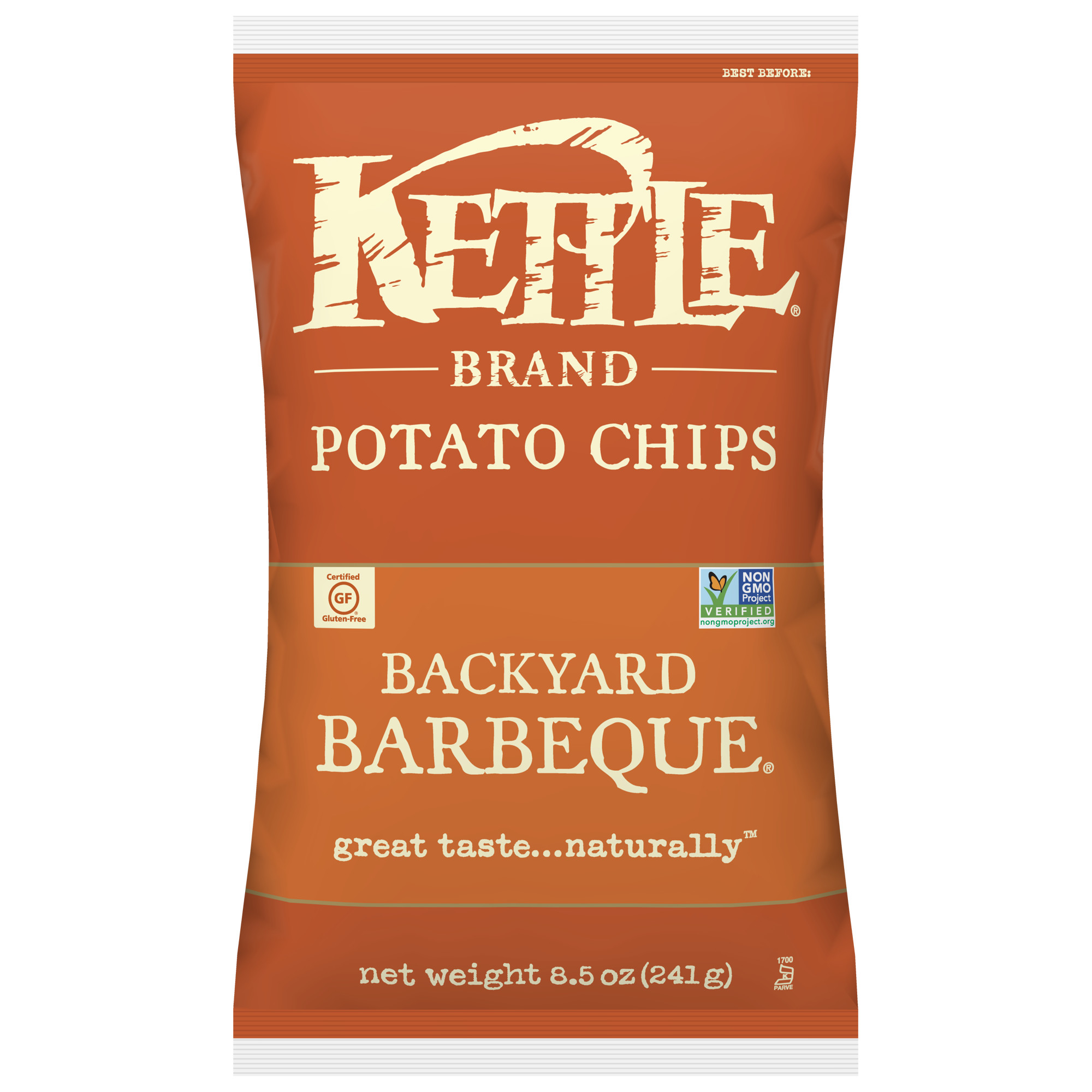 Kettle Brand Potato Chips, Backyard Barbeque, 8.5 Oz