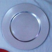 SET OF 24 CLASSIC ROUND SILVER CHARGER PLATES