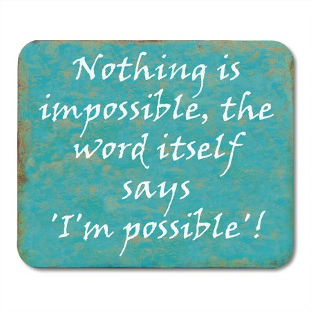 POGLIP Life Inspirational Motivating Wise Quote from Audrey Hepburn Clever Motivation Mousepad Mouse Pad Mouse Mat 9x10 inch - image 1 of 1