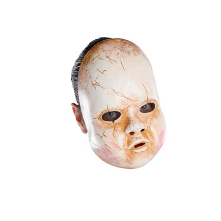 Baby Doll Adult Vinyl Mask - Doll Mask