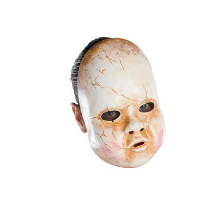 Baby Doll Adult Vinyl Mask - Scary Dolls Halloween Costume
