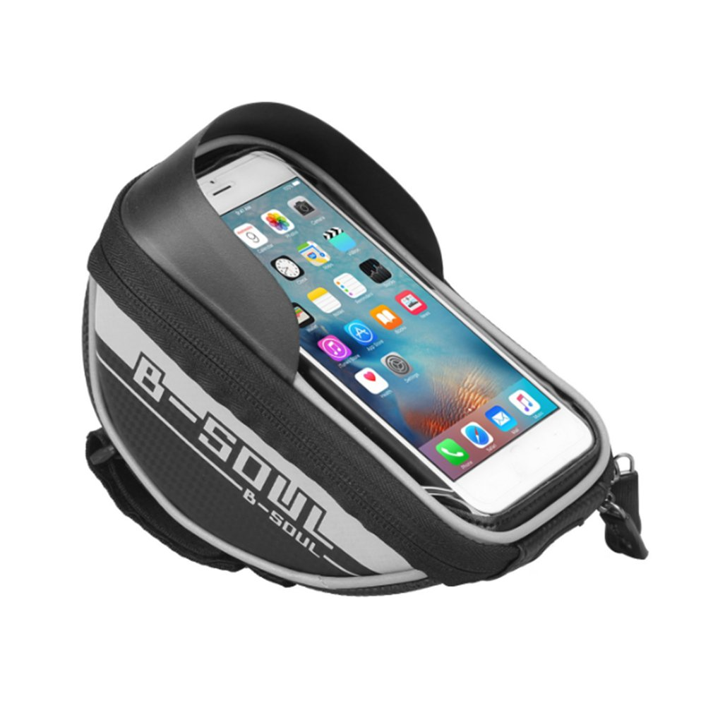 B-SOUL Waterproof Touch Screen Bicycle Handlebar Bag Pannier Pouch Front Tube