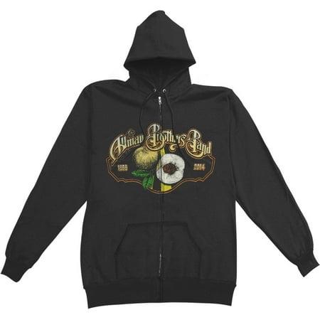 f43b8284a53 Allman Brothers - Allman Brothers Men's Beacon Peach Zippered Hooded  Sweatshirt Black - Walmart.com