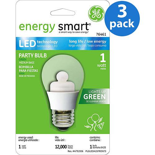 GE LED Green Party Bulb - 3 bulbs