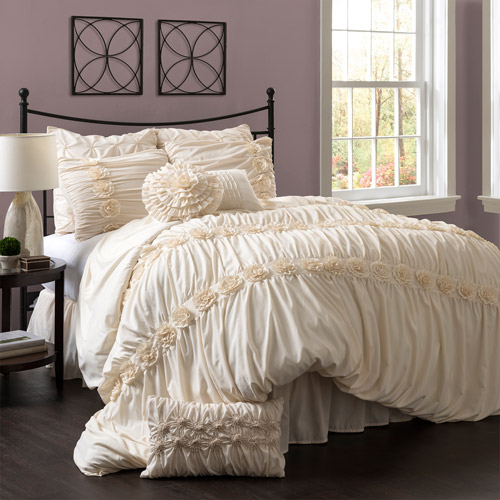 Darla 4-Piece Bedding Comforter Set, Ivory