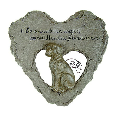 Carson Home Accents CHA10039 Dog Devoted Angel Stepping Stone ()