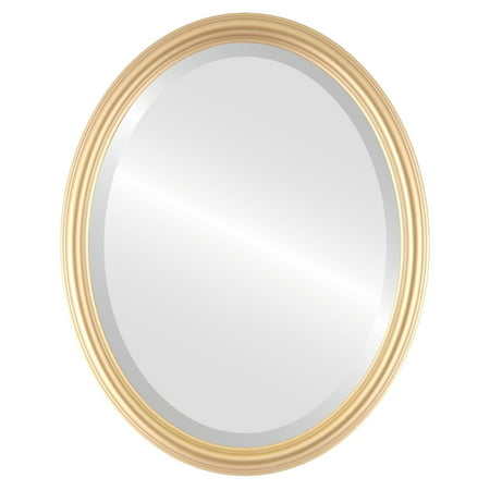 The Oval and Round Mirror Store Saratoga Framed Oval Mirror in Gold Spray