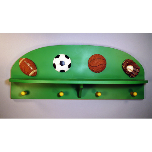 Judith Edwards Designs All Sports Wall Mounted Coat Rack