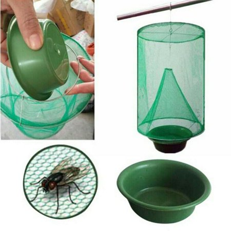 Ranch Fly Trap Outdoor(No Pot), Effective Trap Ever Made Fishing Apparatus with Food Bait Flay Catcher for Indoor or Outdoor Family Farms, Park,