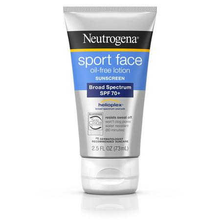 (Neutrogena Sport Face Oil-Free Lotion Sunscreen, SPF 70+, 2.5 fl. oz)
