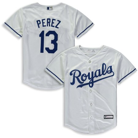Salvador Perez Kansas City Royals Majestic Youth Home Cool Base Replica Player Jersey - White - Party City In Jersey City