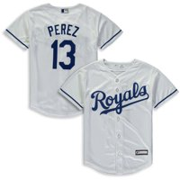 fbdfd1589 Product Image Salvador Perez Kansas City Royals Majestic Youth Home Cool  Base Replica Player Jersey - White