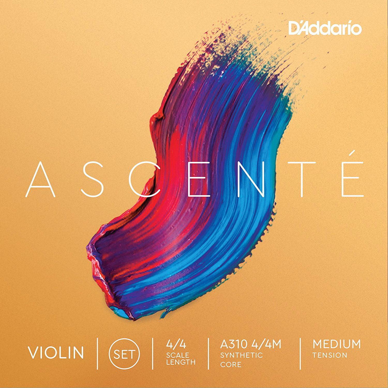 D'Addario Ascent Violin String Medium Tension A310 4 4M by Daddario