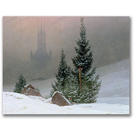 Trademark Fine Art Winter Landscape 2 Canvas Wall Art by Caspar Friedrich