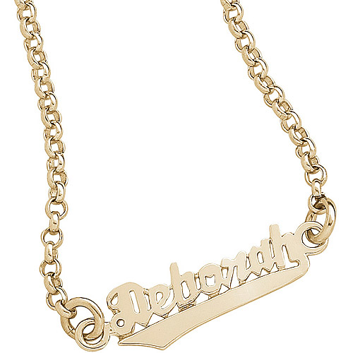 Personalized 14kt Gold over Sterling Silver Script Name Anklet
