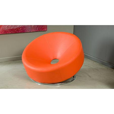 Brilliant Nouvelle Modern Design Orange Leather Lounge Chair Machost Co Dining Chair Design Ideas Machostcouk