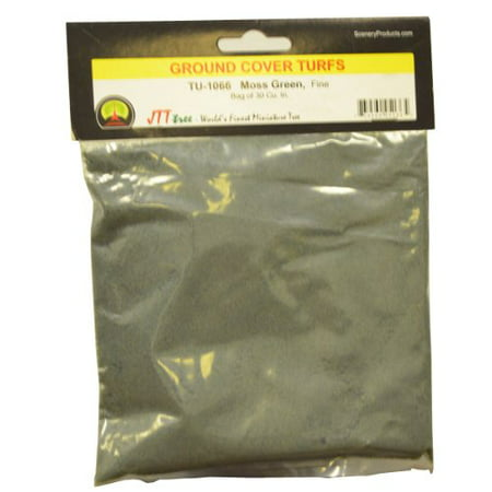 Ground Cover Turf, Moss Green, Fine/30 Cubic Inch, 30 cubic inch bag By JTT Scenery Products