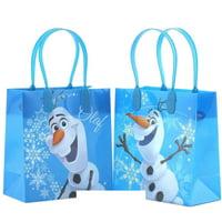 "Party Fvors Disney Frozen Elsa, Anna & Olaf Gift Bag - 6"" S Size (12 Packs)"