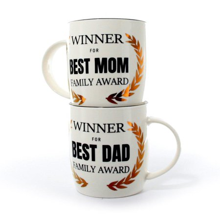 janazala best mom and dad mugs winners funny coffee mugs for mom - Best Christmas Gifts For Parents