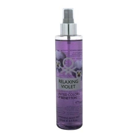 Ladies Violet (Relaxing Violet by United Colors of Bennetton for Women Body Mist 8.4 oz. NEW)