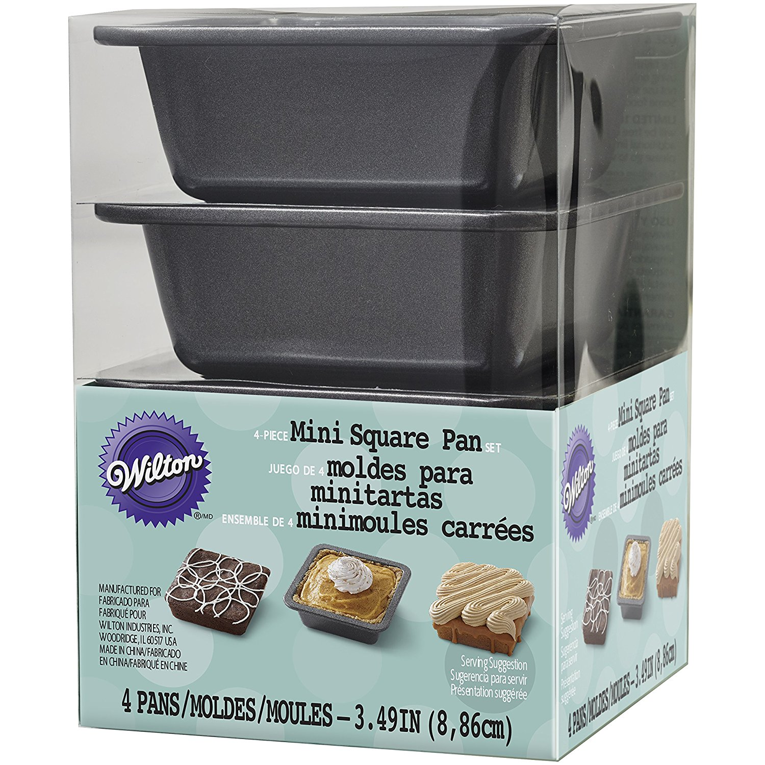 2105-4637 Square Pie Pan Set, Mini By Wilton Ship from US by