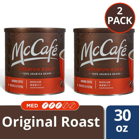 (2 Pack) McCafé Premium Roast Ground Coffee 30 oz