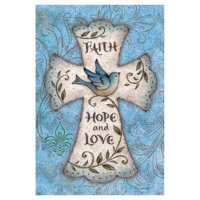 Toland Home Garden Faith Hope Love Flag