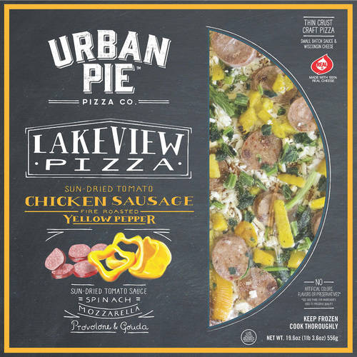 Urban Pie Pizza Co. Lakeview Pizza Thin Crust Craft Pizza, 19.6 oz